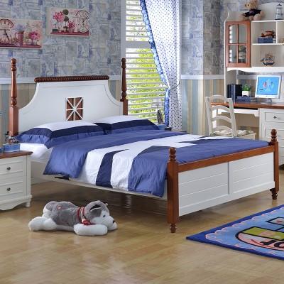 糖果屋 儿童卧室qy700千赢国际(唯一)官网床 板木儿童床 单双人板式床 地中海王子床 1200*1900 标准单床