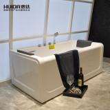 惠达亚克力浴缸 1.7米 三裙边龙头缸HD112