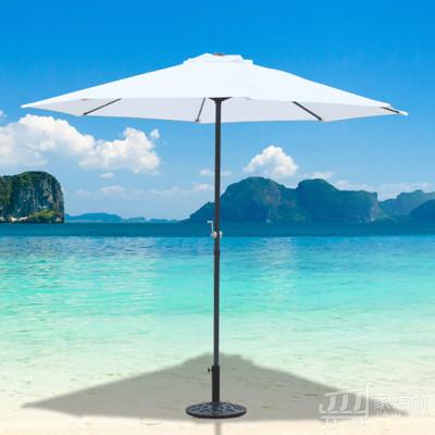 丰舍 户外遮阳伞中柱伞 庭院伞旅游区售楼处 星巴克沙滩伞 白色