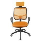 【HiBoss】家用电脑椅 精品办公椅 升降转椅座椅 人体工学防爆椅 尼龙脚 桔色 新款上市,火爆热卖