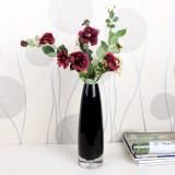 丰舍 爱诗但丁半透明花瓶 fs0002 黑色 现代时尚白色紫色宜家风格