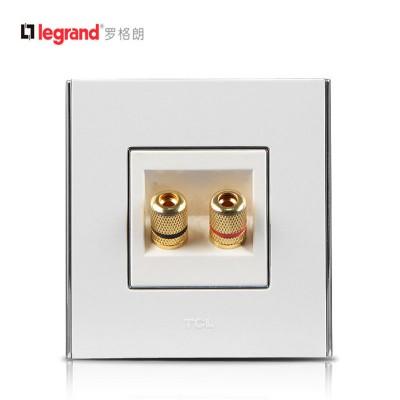 TCL-罗格朗开关插座面板 A8系列 二孔音响插座 86型 雅白色