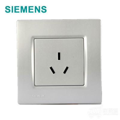 西门子 灵动 三孔插座 金属银 10A 5UB0723/2NC2