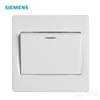 西门子SIEMENS 灵动 单开单控带荧光开关 雅白色 白色