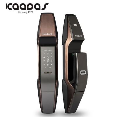 凯迪仕 指纹锁密码锁智能锁电子锁家用防盗门锁 K8 红古铜