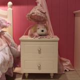 糖果屋 蝴蝶系列两抽屉床头柜 白天鹅一样的颜色 实用储物柜 白色 儿童家具