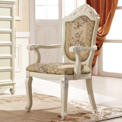 鹏景雅居 欧式休闲椅 椅子 宫廷贵族带扶手休闲椅 餐椅 实木椅G58