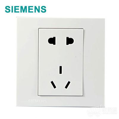 西门子SIEMENS 灵致 五孔插座 雅白色