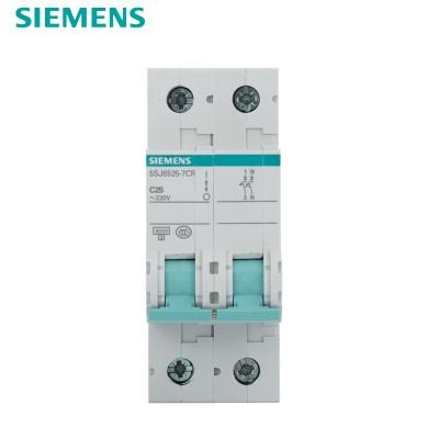 西门子SIEMENS 小型断路器2P 25A 绿色