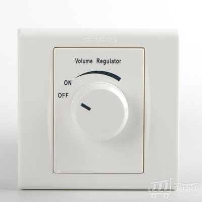 西门子SIEMENS 品宜 音量调节器 雅白色 白色