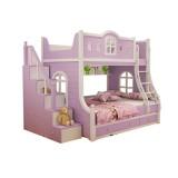 糖果屋儿童床 上下双层子母床 多功能组合床高低储物床 1.5*1.9 床+侧梯柜+固抽