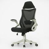 黑白调Hbada 电脑椅子 人体工学办公椅 家用转椅 白色