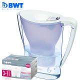 倍世 德国BWT滤水壶 2.7升 6色可选 直饮便携户外滤水壶 一壶五芯 2.7升 白色 有效去除铅 铜等金属元素保留有益矿物质