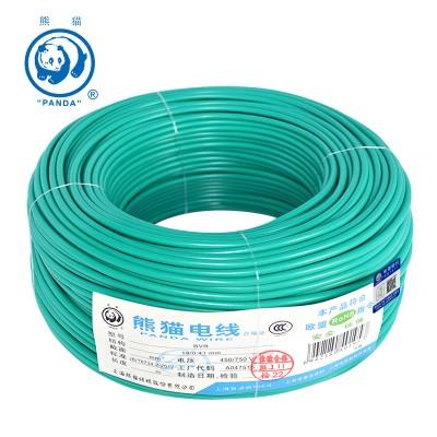 熊猫电线 BVR多股软线 BVR 1平方 100米绕包 绿色