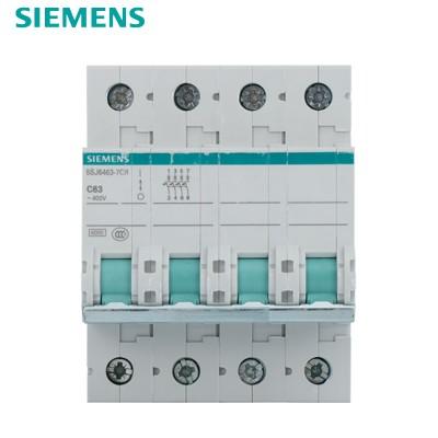 西门子SIEMENS 小型断路器4P 63A 绿色