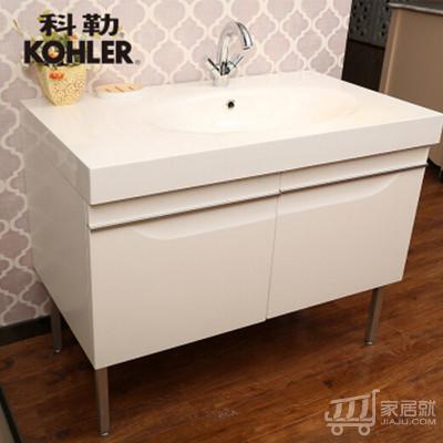科勒派丽德1000mm 浴室柜组合 15051t底柜+18385t-0台盆(sh) 白柜+盆+脚2付