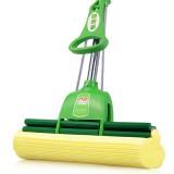 美的家海绵拖把双滚轮挤水胶棉拖把免手洗海绵头吸水地拖布 绿色 加强款双滚轮33cm 绿色