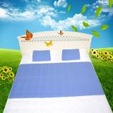 Kyoryo京良 夏季清凉软床垫新款凉席 F8001-3 90*140cm*1+30*40cm*2 蓝色 夏日清凉三件套