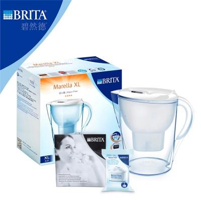 碧然德(Brita)净水器滤水壶(金典Marella3.5L) 白一壶1芯
