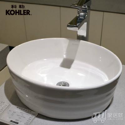科勒KOHLER 纽英伦时尚碗盆 脸盆 台盆K-2965T-0 (BJ)