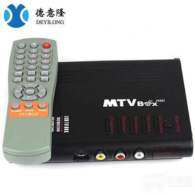 德意隆 音视频转换器S端子转VGA AV转VGA TV转VGA带声音电视盒 套装一 黑色