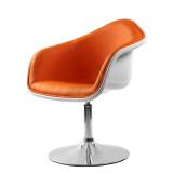 Hiboss 办公家具 现代休闲吧椅 ZY016 桔色 时尚吧椅 舒适西皮酒吧椅