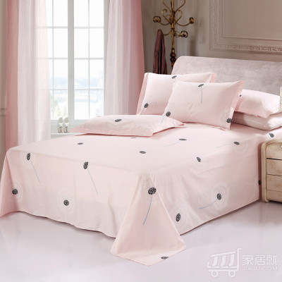 德玉秀坊 250*230cm全棉床单+2只枕套 S40 蒲公英