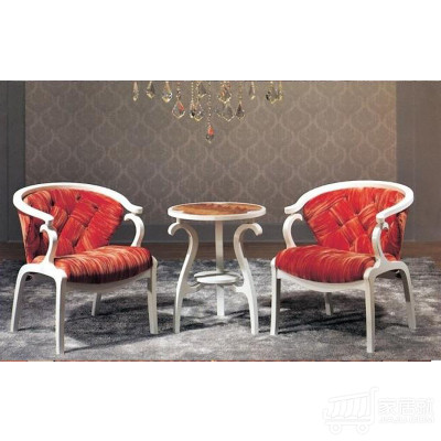 AJ钱柜娱乐手机版 欧式休闲椅、单人围椅、咖啡椅、沙发椅、酒店椅 压皱红绒布