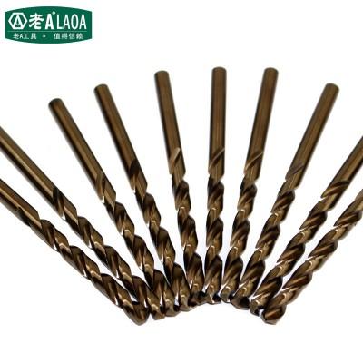 老A(LAOA) 10支装含钴不锈钢钻头 麻花钻头 1-7MM 直径2.0MM