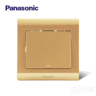 松下(Panasonic) 开关插座面板 铭悦金辉 一开单控开关