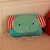 伊品堂 动物保暖抱枕 LJW-054 小象-青色 靠枕可爱加热枕头办公室靠垫电热坐垫毛绒