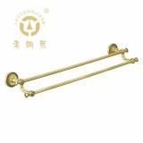 老铜匠 全铜欧式双杆毛巾杆GM10202AAB 卫浴挂件 浴室挂件 双杆