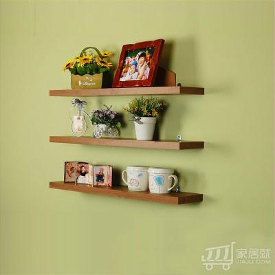 居 隔板搁板 层板书架隔板 置物架壁挂隔板 北美怀旧橡木色
