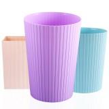 鑫宝鹭创意时尚家用客厅厨房卫生间垃圾桶无盖收纳桶紫色大圆大号创意垃圾桶-大圆(紫罗兰)