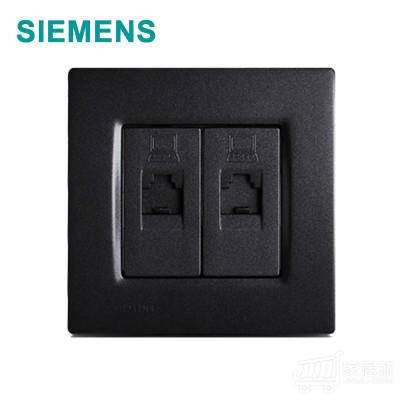 西门子SIEMENS 灵动 二位电脑插座 RJ47 金属黑色 黑色