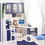 糖果屋 儿童电脑桌(不含椅子)书桌书柜组合 深蓝色 儿童qy700千赢国际(唯一)官网