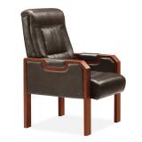 hiboss 办公家具大班台经典款老板台总裁桌时尚高贵 泰柚原木色 深棕色四角会议椅