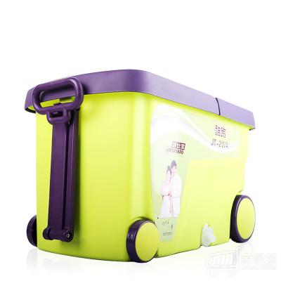 洁仕宝双驱动旋转拖把桶好神拖 4个拖头+加强杆塑料盘 绿咖色