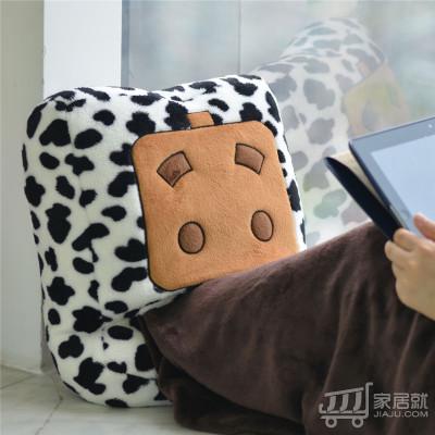 自由星 USB张小盒暖脚宝毯子 LJW-067 奶牛