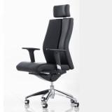 HiBoss 皮艺大班椅 办公椅 升降转椅 ZY-K9119 黑色西皮 升降转椅 可定制 安全舒适 耐用