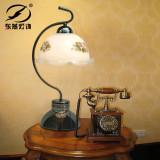 东燕灯饰 欧式复古台灯 卧室床头田园灯客厅灯 803-4 不含光源