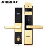 凯迪仕 指纹锁密码锁智能锁电子锁家用防盗门锁 5005 香槟金色