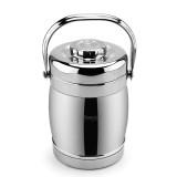 兴财 1.5L鼓型提锅 NG002-A(双菜格) 1.5L鼓型提锅 锈钢真空保温桶饭盒多层保温便当盒