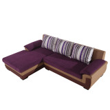 厅猫 Mia米娅系列布艺组合沙发 双人+右贵妃 紫色