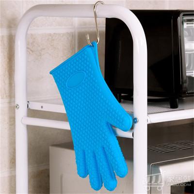 欧润哲 硅胶隔热手套 2只装(1061572) 蓝色