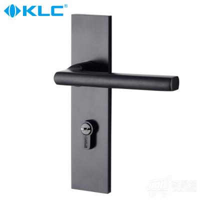 德国KLC简约黑色连体室内门锁 威廉 不带钥匙 门锁