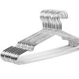 美的家防滑晾衣架成人衣架不锈钢实心多功能晾衣架 4mm款10个装 银色