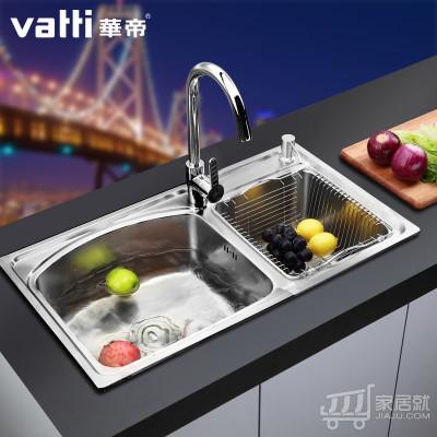 华帝304不锈钢水槽双槽洗菜盆 H-A2001(71)Q.1