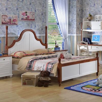 糖果屋 儿童卧室地中海系列儿童板式床 现代单双人床 1200*1900 标准单床