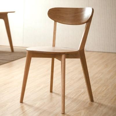 AJ 纯实木餐椅全实木椅子进口白橡木餐椅日式组合简约现代10 白橡木椅子